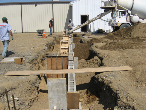 Akerly Concrete Construction's quality work shown in this concrete footer.